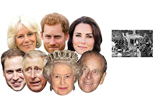 Diamond Jubilee Royal Family Packung von 7 (Kate Middleton, Prince Willam, Prince Harry, The Queen, Prince Philip, Prince Charles, Camilla) - Enthält 6X4 (15X10Cm) starfoto