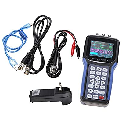 Signal Generator, JDS2062A Handheld 30MHz 2 Channel Digital Signal Generator Frequency Meter S4R2 AC110-220V