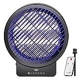 BJG Insektenvernichter Elektrisch, Mückenlampe Mückenfalle Insektenfalle mit UV-Licht,mit Timing und Fernsteuerungs Wirksam zum Reduzieren Fliegender Insekten Keine giftigen Chemikalien