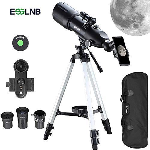 ESSLNB Telescopio Astronomico 40080 Telescopio Astronomico Profesional con 10X Adaptador de Telefono Ajustable Trípode...