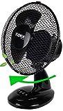 Tischventilator Ø23 cm 25 Watt | Ventilator | Rotation zuschaltbar | oszillierend | leiser Betrieb...