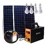 YYWER Estación de energía portátil, generador Solar para Picnic al Aire Libre, Pesca, Viaje, Fiesta, Camping, Salida de 12 V / 220 V, Banco de energía Multifuncional con p Orange