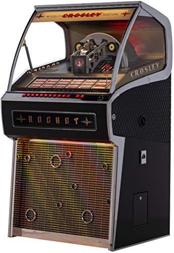 Crosley Rocket Full Size Vinyl Jukebox with Bluetooth - Holds 70 45-RPM Vinyl Records, Black