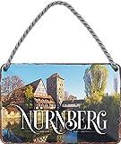 """schilderkreis24 – Blechschild """"Nürnberg """" Stadt Deko"""