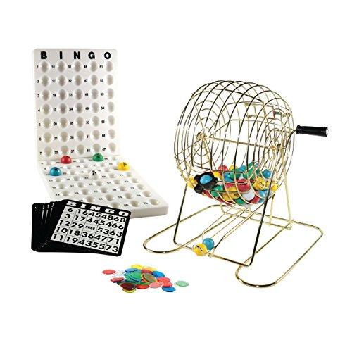 Lion Jeux & Gifts Europe 10006 21 cm Métal Cage Bingo Ensemble
