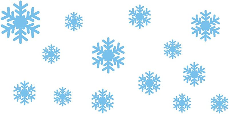 Balakie Christmas Frozen Snowflakes Wall Stickers Art Removable Durable Wall Decals Kids Room Decor Murals Waterproof Blue 30x60cm 11 81x23 62