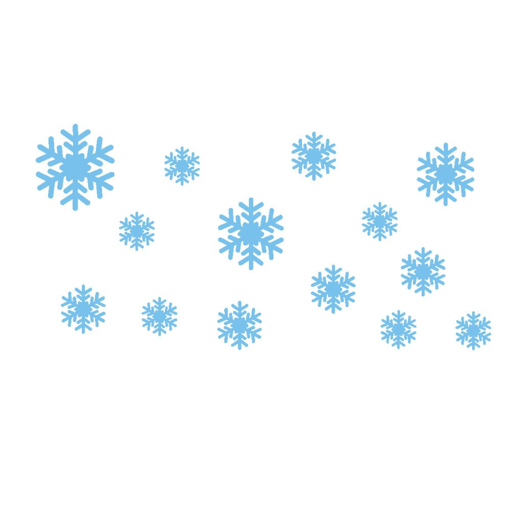 40 Frozen Snow flakes Snowflakes Elsa olaf anna wall stickers girls bedroom star