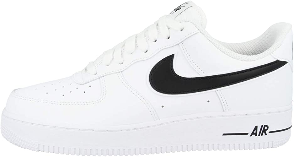 Nike Air Force 1 '07 3, Baskets Homme, Blanc (White/Black 101), 45 ...