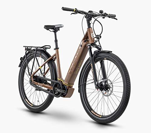 Pexco Husqvarna Gran Urban 6 FW Shimano Steps Bicicleta eléctrica 2020 (27,5' Wave 50 cm, bronce y amarillo)