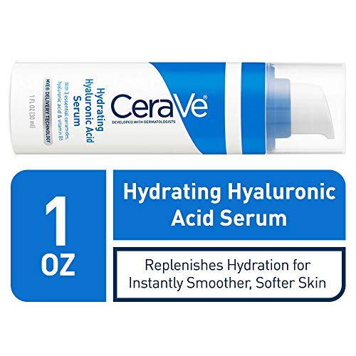 CeraVe Hyaluronic Acid Face Serum | 1 oz | Hydrating Serum for Face with Vitamin B5 | For...