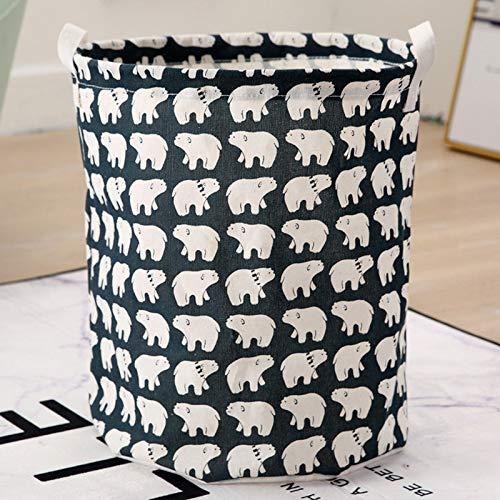 ZXXFR Wasmand, schattig wit bear patroon wasmand zak waterdichte vuilnismand wasmand organisator producten box verbruiksmaterialen Home Decoration