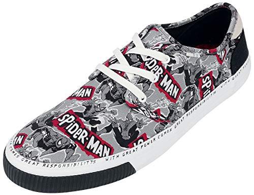 TOMS - Mens Carlo Sneaker, 11 UK, Military Marvel Spiderman P