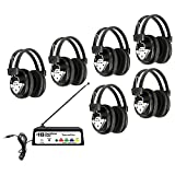 Hamilton Buhl Wireless Listening Center, 6 Station with Headphones and Transmitter, Multi Frequency