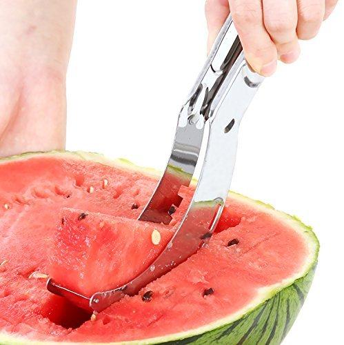7TECH Watermelon Slicer, Easy Slice Fruit Kitchen Tool,Stainless Steel Melon Baller Fruit Carve Knife & Fruit Peeler Faster Melon Cutter