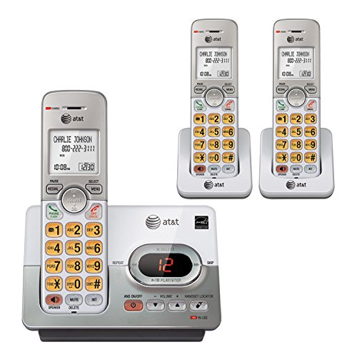 AT&T EL52353 Cordless Phone with 3 Handset, Answering System, Caller ID/Call Waiting, DECT 6.0 Digital Technology