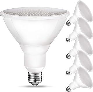 PAR38 LED Flood Outdoor Light Bulb, 3000K Warm White, 90W Equivalent (11 Watt), 900 Lumens, E26 Base, Non-Dimmable, Wet Rated, UL, 6 Pack