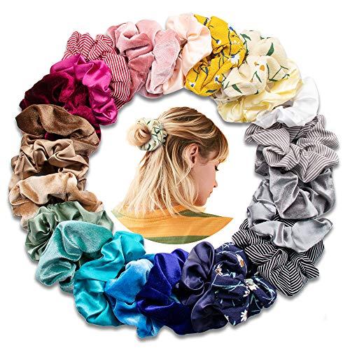 【Neuester Stil】SYOSIN Haargummis, Scrunchies auch einstellen, Retro-Design für Mädchen, elastische Haargummisfür Frauen oder Mädchen Haarschmuck,Pferdeschwanz Haarband Haaschmuck für Mädchen Frauen