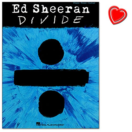 Ed Sheeran Divide - Matching folio for Ed Sheeran's record-breaking third studio album Divide - Songbook mit bunter herzförmiger Notenklammer - Verlag Hal Leonard Europe - HL00233553 - 9781495093654