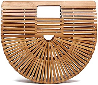 Bamboo basket bag explosion handmade straw bag female woven bamboo Fashion Tote Bag-small[zZ]