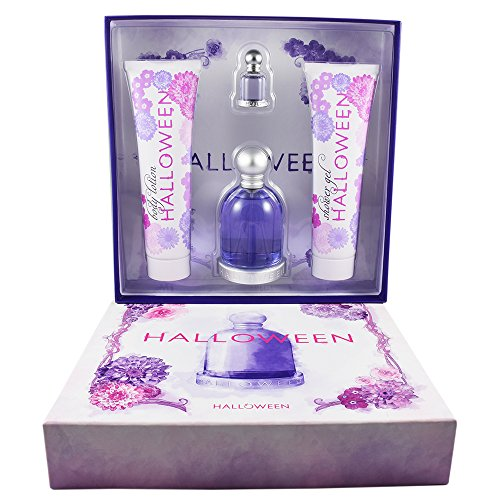 Set Halloween 4 Pzs Eau de Toilette 100 ml + Eau de Toilette 4.5 ml + Body Lotion 150 ml + Shower Gel 100 ml de Jesus del Pozo