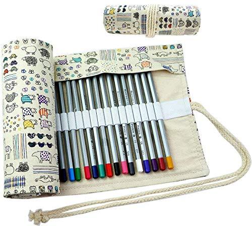 CROOGO Neuer Künstler Studenten Bleistifte Bleistift Kasten hält 48 Bleistifte Schöne Tiere (Bleistifte NICHT enthalten)