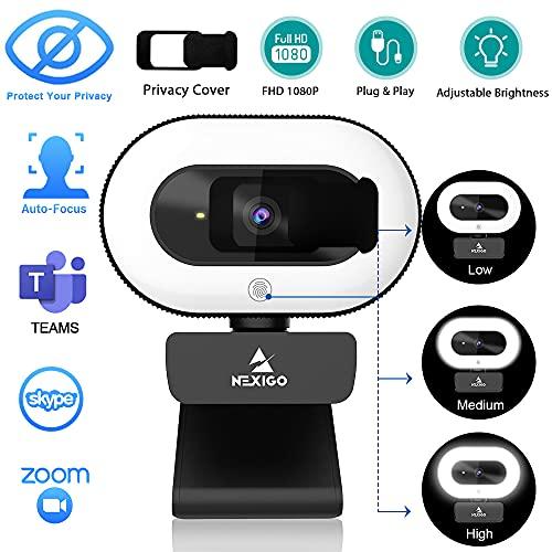 NexiGo StreamCam N930E mit Ringlicht