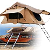 SUNWEII Rooftop Truck Camping Portable Tent,Self-Drive Tour Vehicle Soft top car Tent rain and Sun Protection Tent Outdoor Pickup Truck Soft top roof Tent with Rainfly, Ladder and Storage Bag