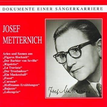 Dokumente einer Sängerkarriere - Josef Metternich