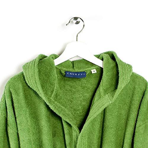 Accappatoio di Spugna CALEFFI Modello Minorca (Verde, XL)