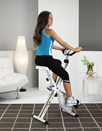 Tecnovita by BH - Open & Go - Vélo pliable pour l'exercise - Mixte - Blanc (Blanc/Noir/Vert) - Taille Unique