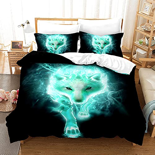 Bedclothes-Blanket Copripiumino neonata,Copertina 3D Stampa Gruppo Wolf Group Stereo Digital Tre Piece Bedry Regalo-16_210 * 210.