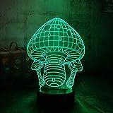Decoración de luces de Halloween linda luz de noche de seta 3D lámpara de mesa LED luz de noche USB luz de noche colorida multicolor
