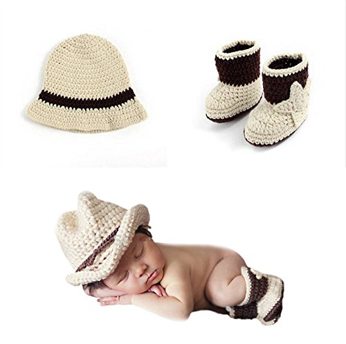 Dayan cute Cartoon Infant Newborn Baby Girl Boy crochet Beanie Hat clothes Baby Photograph props khaki1