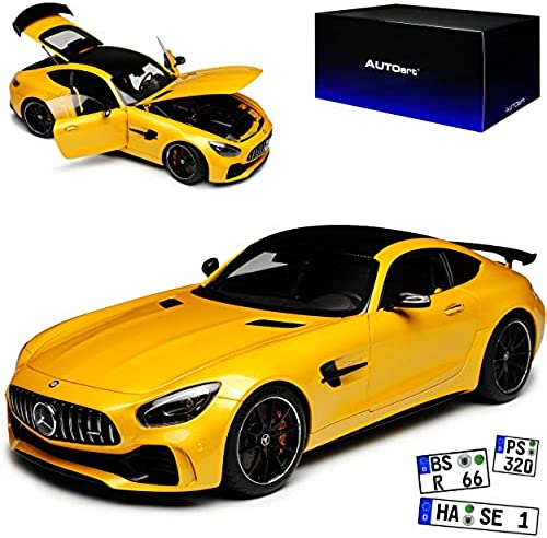 AUTOart Mercedes-Benz AMG GT R Coupe Solar Beam Gelb 76332 Ab 2014 1 18 Modell Auto