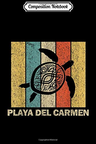 Composition Notebook: Playa del Carmen Retro 80s Tribal Sea Turtle Journal/Notebook Blank Lined Ruled 6x9 100 Pages