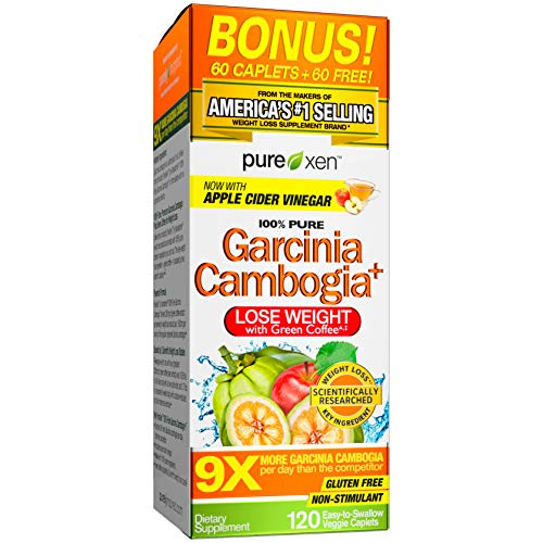 Purely Inspired 100% Pure Garcinia Cambogia Extract with HCA, Extra Strength, Weight Loss, 120 count Veggie Tablets (packaging may vary)