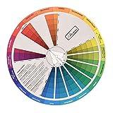 HEALLILY Rueda de Color Portátil Útil Círculo cromático Colores Mezclado Guía de Colo...