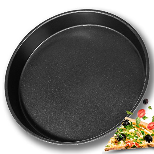 BOJIN Pizza Pan Non-Stick 14 Inch/36CM Round Pizza Tray Carbon Steel Bakeware Deep Dish Baking Pans