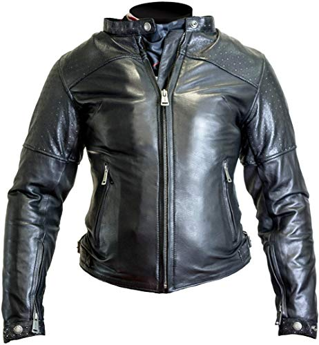 Helstons Motorradjacke mit Protektoren Motorrad Jacke Audrey Damen Lederjacke schwarz XL, Chopper/Cruiser, Ganzjährig
