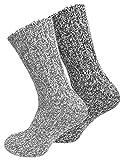 Juego de 2pares de calcetines noruegos (calcetines de lana), tejidos, unisex gris 35-38