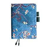 Chris.W Refillable A5 Planner PU Leather Cover Notebook with Pen Holder Loop, Business Car...