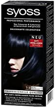 Syoss Professional Performance 1-4 BLUE BLACK Hair Color 115 ml - 3er Pack (3 x 115 ml)