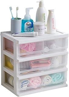 Luggage Cosmetic Cases Cosmetic Storage Box Transparent Rack Plastic European Extra Large Drawer Storage Box Debris Storage Box (Color : Clear, Size : 38.5cm*25.5cm*38cm)