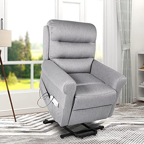 Recliner Chair Home Single Sofa Furniture with Comfortable Fabric Seat and Backrest Theater Seating for Living Room,Grey