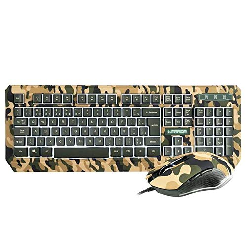 Kit Teclado e Mouse Gamer Multilaser Warrior Kyler, LED Branco - TC249