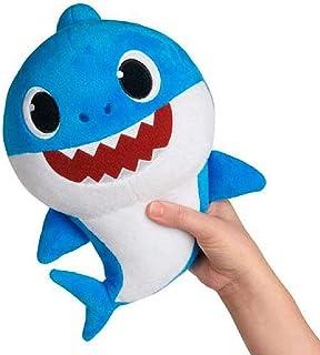 Baby Shark- Peluche Musical Daddy Shark, Color Azul, Talla Única (Bandai SS92513)