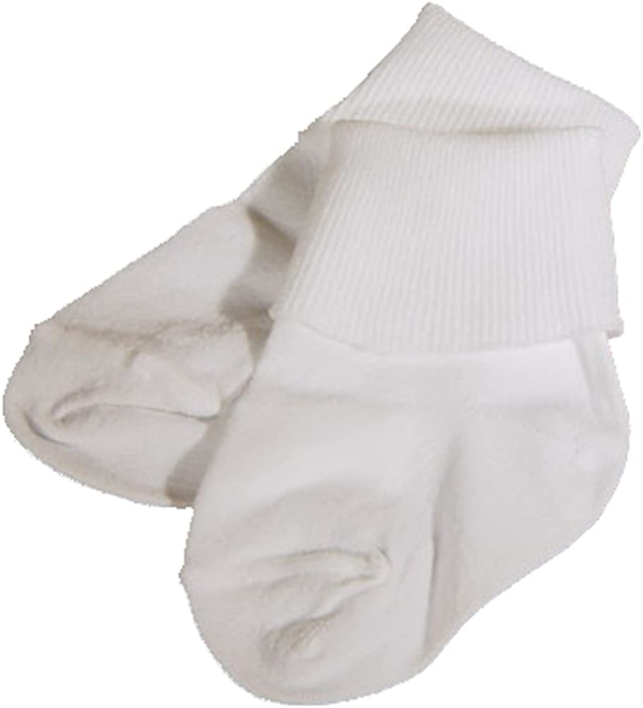 Baby Girl or Baby Boy White Cotton Basic Infant Bobby Sock - Casual or Dressy