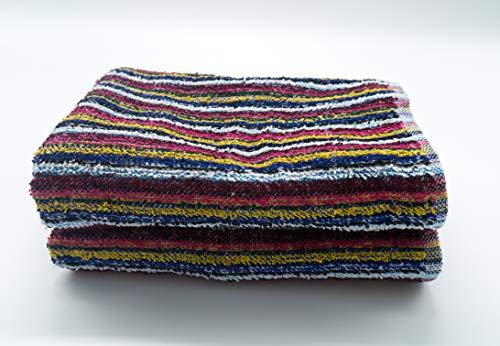 Lex's Linens - Juego de 2 toallas de hilo reciclado multiusos, ecológicas, felpa, 50 x 85 cm