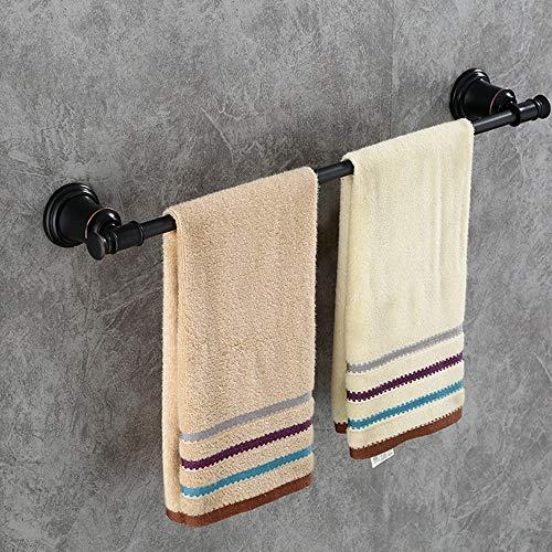 DKee Bathroom Shelves Toallero De Baño Negro Barra Individual Barra De Toalla Rack De Baño Toalla Europea Colgante Perchero Perforado