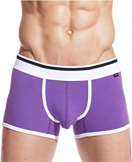 Colleengao XUBA Men's Cool Comfort Breathable Boxer Brief Underwear Purple